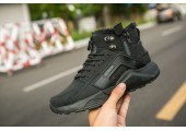 Кроссовки Nike Huarache X Acronym City MID Leather All Black С МЕХОМ - Фото 5