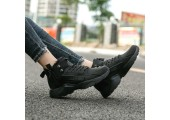 Кроссовки Nike Huarache X Acronym City MID Leather All Black С МЕХОМ - Фото 7