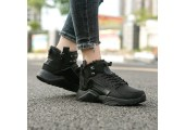 Кроссовки Nike Huarache X Acronym City MID Leather All Black С МЕХОМ - Фото 9