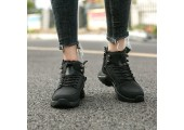 Кроссовки Nike Huarache X Acronym City MID Leather All Black С МЕХОМ - Фото 8