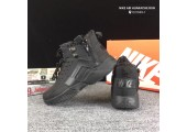 Кроссовки Nike Huarache X Acronym City MID Leather All Black С МЕХОМ - Фото 3