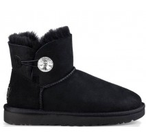 UGG MINI BAILEY BUTTON BLING BOOT BLACK