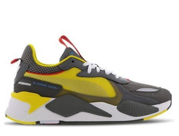 Кроссовки Puma Rs-x X Transformers Bumblebee Quiet Shade/Cyber Yellow/White