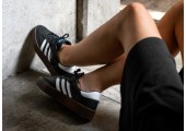 Кроссовки Adidas Originals Samba Black/White - Фото 9