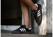 Кроссовки Adidas Originals Samba Black/White - Фото 10
