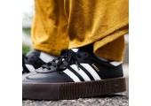 Кроссовки Adidas Originals Samba Black/White - Фото 4