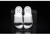Шлепанцы Off White x Jordan Hydro 6 White - Фото 2