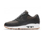 Кроссовки Nike Air Max 90 Premium Dark Grey/Gum Yellow/White - Фото 1