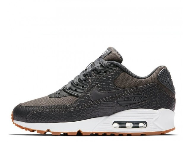 Кроссовки Nike Air Max 90 Premium Dark Grey/Gum Yellow/White