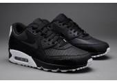 Кроссовки Nike Air Max 90 Premium Black/White & Metallic Silver - Фото 6
