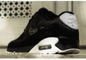 Кроссовки Nike Air Max 90 Premium Black/White & Metallic Silver - Фото 3