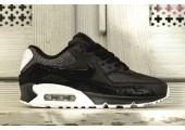 Кроссовки Nike Air Max 90 Premium Black/White & Metallic Silver - Фото 7