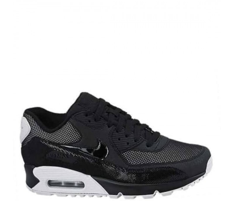 c21e7982 Кроссовки Nike Air Max 90 Premium Black/White & Metallic Silver ...