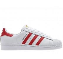 Кроссовки Adidas Superstar II White/Red