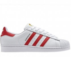 Кроссовки Adidas Superstar II White/Red