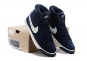 Кроссовки Nike Dunk Hight Navy С МЕХОМ - Фото 10