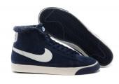 Кроссовки Nike Dunk Hight Navy С МЕХОМ - Фото 4