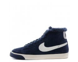 Кроссовки Nike Dunk Hight Navy С МЕХОМ