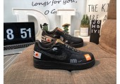 Кроссовки Nike Air Force 1 Low Just Do It Black/White - Фото 2
