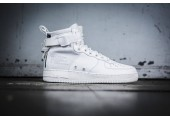 Кроссовки Nike SF Air Force 1 Utility Mid All White - Фото 3