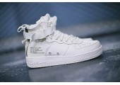 Кроссовки Nike SF Air Force 1 Utility Mid All White - Фото 6