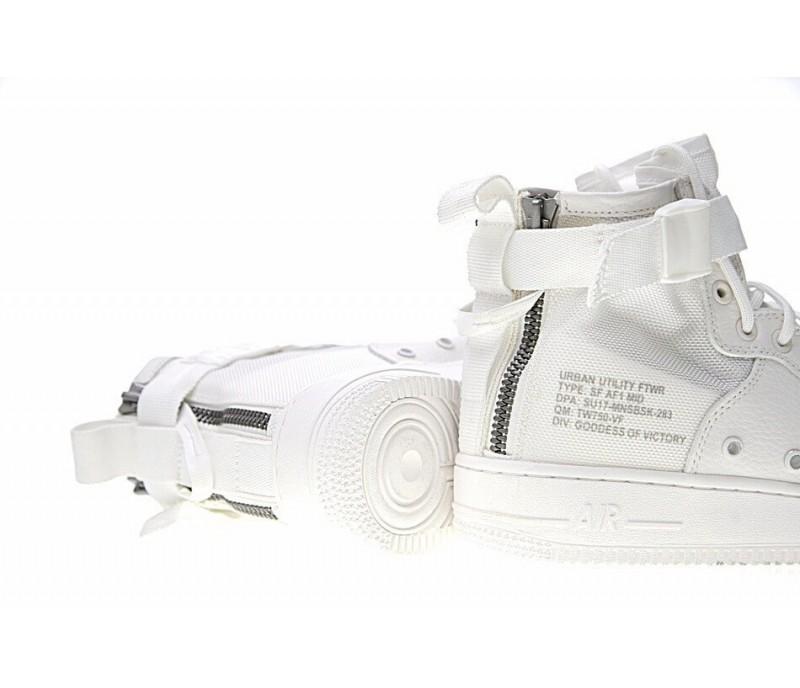 1dc2a3c44e58 Кроссовки Nike SF Air Force 1 Utility Mid All White купить в Киеве ...