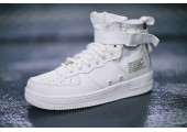 Кроссовки Nike SF Air Force 1 Utility Mid All White - Фото 9