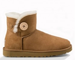 UGG MINI BAILEY BUTTON II BOOT CHESTNUT