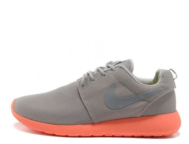 Кроссовки Nike Roshe Run Light Grey/Coral
