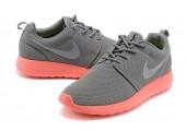 Кроссовки Nike Roshe Run Light Grey/Coral - Фото 4