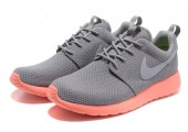 Кроссовки Nike Roshe Run Light Grey/Coral - Фото 3