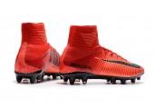 Футбольные бутсы Nike Mercurial Superfly V AG-Pro Bright Crimson/White/University Red - Фото 7