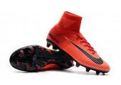 Футбольные бутсы Nike Mercurial Superfly V AG-Pro Bright Crimson/White/University Red - Фото 5