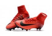 Футбольные бутсы Nike Mercurial Superfly V AG-Pro Bright Crimson/White/University Red - Фото 2