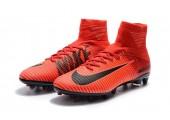 Футбольные бутсы Nike Mercurial Superfly V AG-Pro Bright Crimson/White/University Red - Фото 8