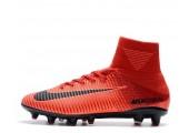 Футбольные бутсы Nike Mercurial Superfly V AG-Pro Bright Crimson/White/University Red - Фото 1