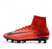 Футбольные бутсы Nike Mercurial Superfly V AG-Pro Bright Crimson/White/University Red