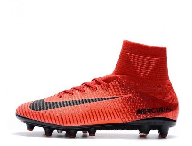 Футбольные бутсы Nike Mercurial Superfly V AG-Pro Bright Crimson/White/University Red