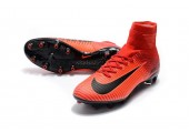 Футбольные бутсы Nike Mercurial Superfly V AG-Pro Bright Crimson/White/University Red - Фото 6