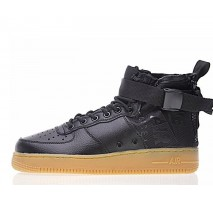 Кроссовки Nike SF Air Force 1 Utility Mid Black/Gum