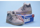 Кроссовки New Balance 696 Hight Winter Cream С МЕХОМ - Фото 2