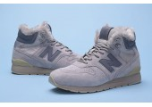 Кроссовки New Balance 696 Hight Winter Cream С МЕХОМ - Фото 4