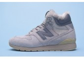 Кроссовки New Balance 696 Hight Winter Cream С МЕХОМ - Фото 8