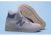 Кроссовки New Balance 696 Hight Winter Cream С МЕХОМ - Фото 7