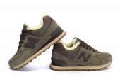 Кроссовки New Balance 574 Winter Haki С МЕХОМ - Фото 4
