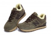 Кроссовки New Balance 574 Winter Haki С МЕХОМ - Фото 1