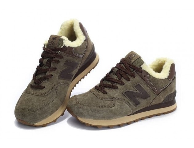 Кроссовки New Balance 574 Winter Haki С МЕХОМ