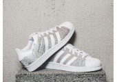 Кроссовки Adidas Superstar Silver/White - Фото 3