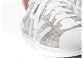 Кроссовки Adidas Superstar Silver/White - Фото 2