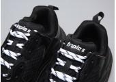 Кроссовки Balenciaga Triple-S Black - Фото 3